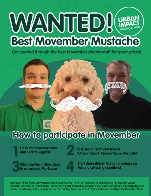WANTED: The Best Moustaches at Urban Impact!